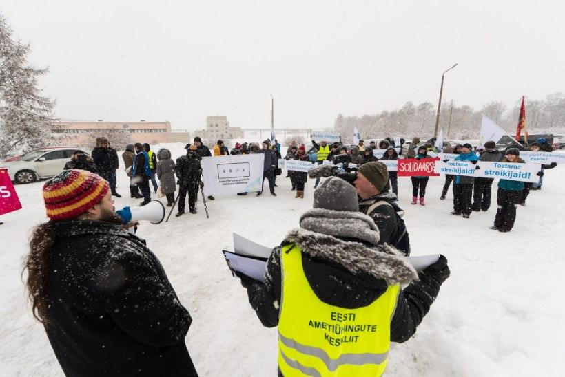 Rakvere tapaliini töötajad saavad palgatõusu, kuid streik jätkub