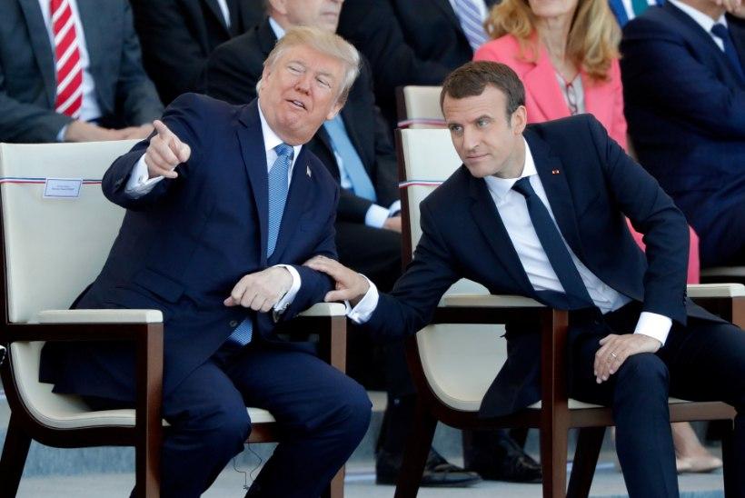 Macron: mina veensin Trumpi Süüriasse jääma