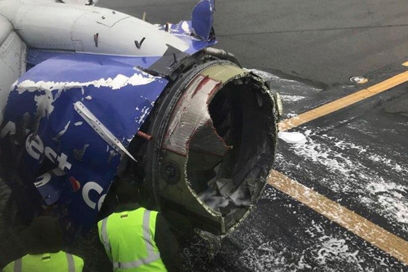 Reisilennukil plahvatas õhus mootor, üks reisija hukkus