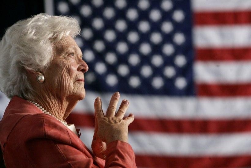 """""""Lõpule jõudis ilus elu"""": suri USA endine esileedi Barbara Bush"""