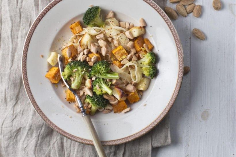 Spagetid maguskartuli, brokoli ja halloumiga