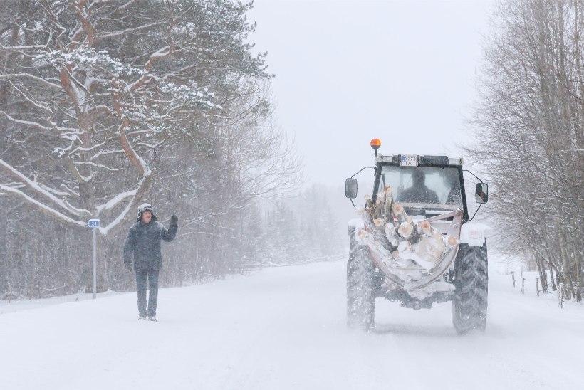 ILMABLOGI | Teeolud on keerulised: lume tõttu on juhtunud mitu avariid