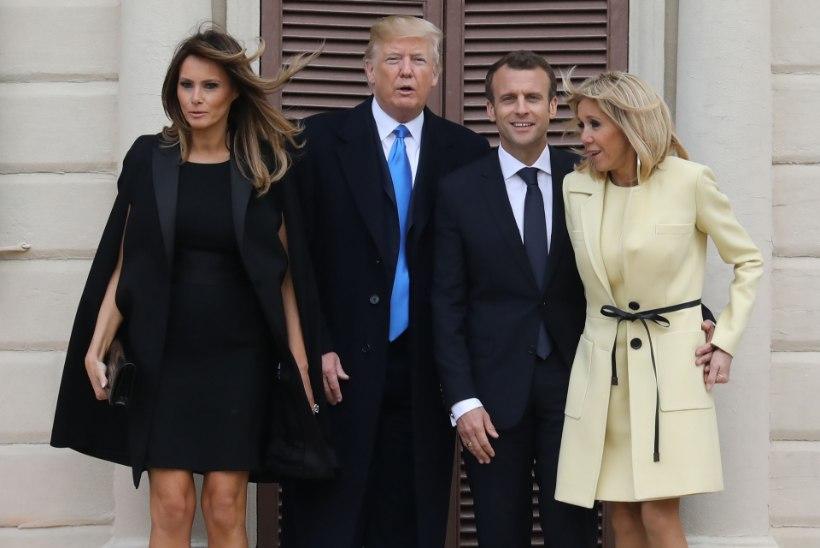 FOTOD JA VIDEO | Esimene kord? Vaata, kuidas Trump ja Macron üritasid puud istutada