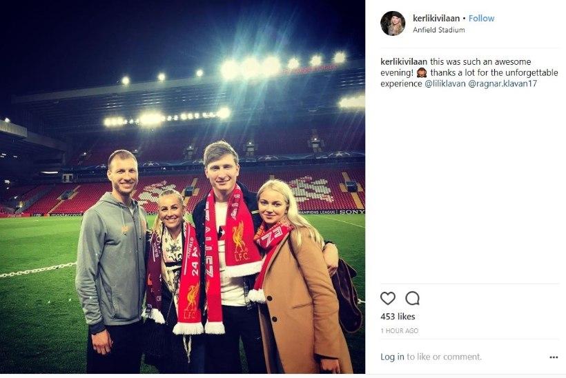 FOTOUUDIS   Taukar külastas tüdruksõbraga Ragnar Klavanit, üheskoos tehti Anfieldil pilti
