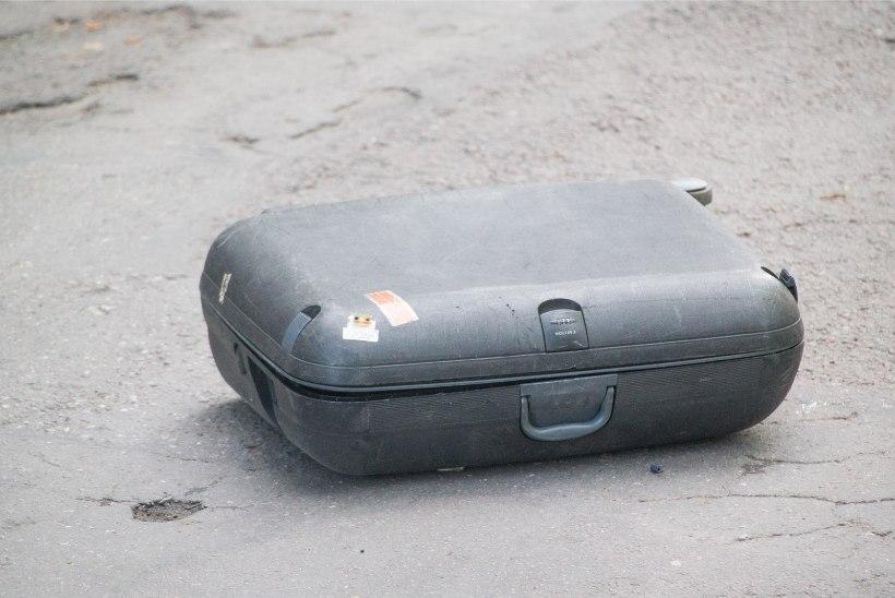 Põhja-Tallinnas tekitas bussipeatusesse jäetud tühi kohver pommipaanika