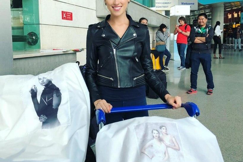 FOTO | Elina Nechayeva võttis Lissaboni kuhjaga kaasa Kristina Viirpalu moeloomingut