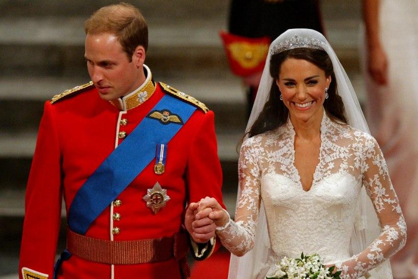 Prints William ja Kate tähistasid pulma-aastapäeva - kas mäletad nende lustakat tranduletti?