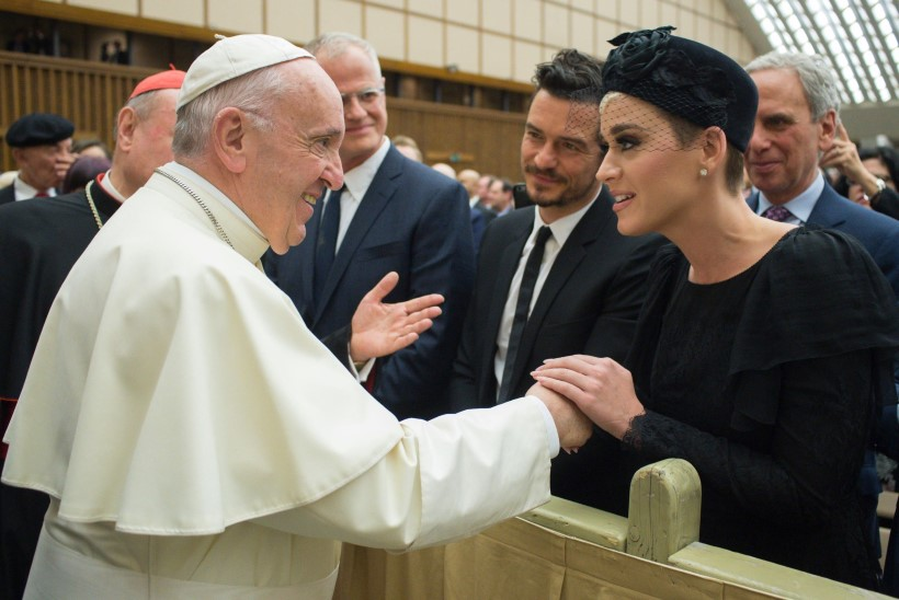 Katy Perry ja tema kallim Orlando Bloom kohtusid paavstiga