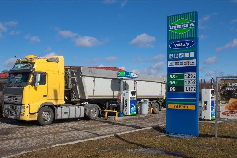 Autovedajad on palganud Läti vahet sõitvad tankijad