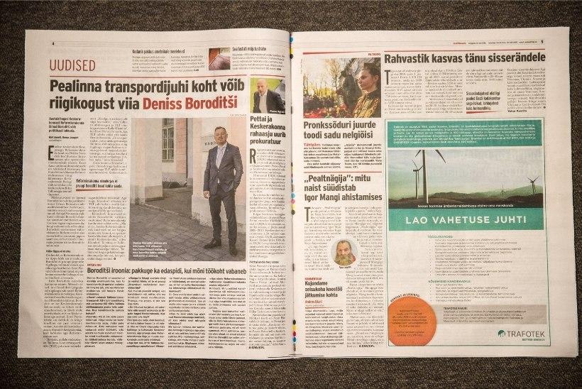 Päevaleht paigutas uudise Mangi ahistamisskandaalist viiendale leheküljele