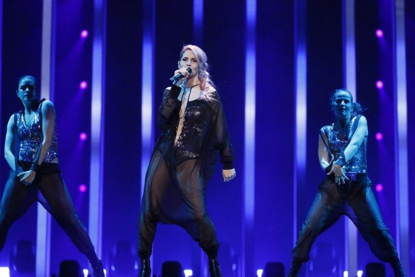 FOTOD JA VIDEOD   Tantsivad robotid, mäeks muunduv laulja ja häbemeni ulatuv dekoltee ehk Eurovisioni teise poolfinaali põnevamad esitused