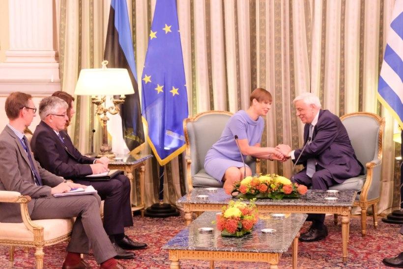 FOTO | Kreeka president hindas Kersti Kaljulaidi säärejooksu?
