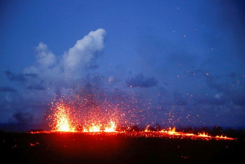Hawaii vulkaan köhib välja külmikusuuruseid kivikamakaid