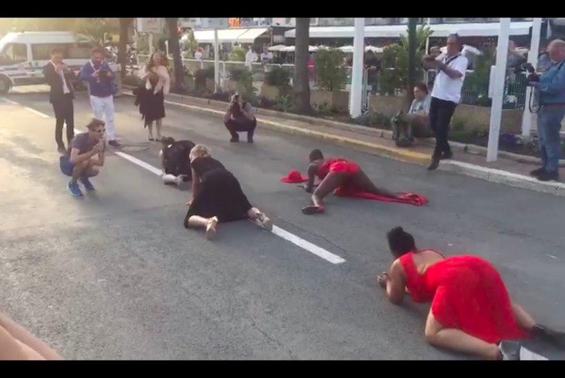 VIDEO | PÖÖRANE CANNES: naised hööritavad käpuli punase vaiba ees tagumikke