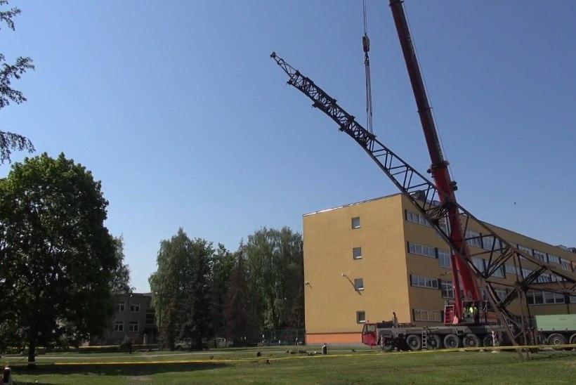 VIDEO   Vaata, kuidas võeti maha Tallinna viimane suurem õhuelektriliin