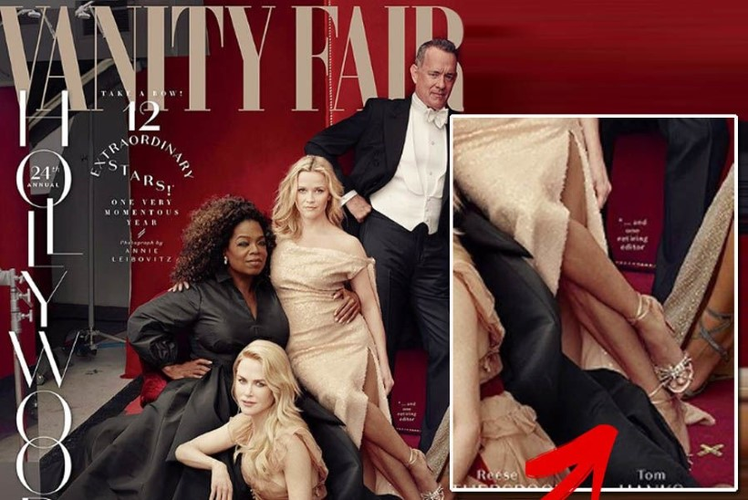 Meesteajakiri mõnitab Vanity Fairi retušeerimisprohmakat