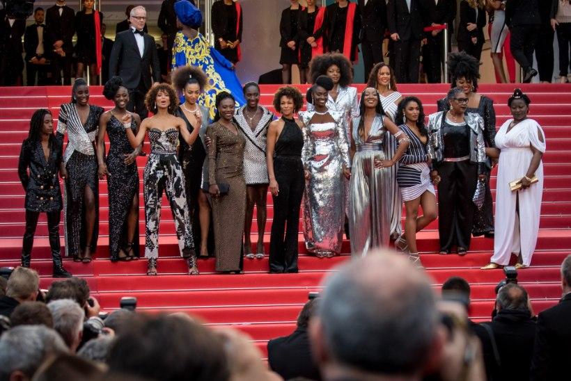 FOTOD | Mustanahalised näitlejannad protestisid Cannes'is rassismi vastu