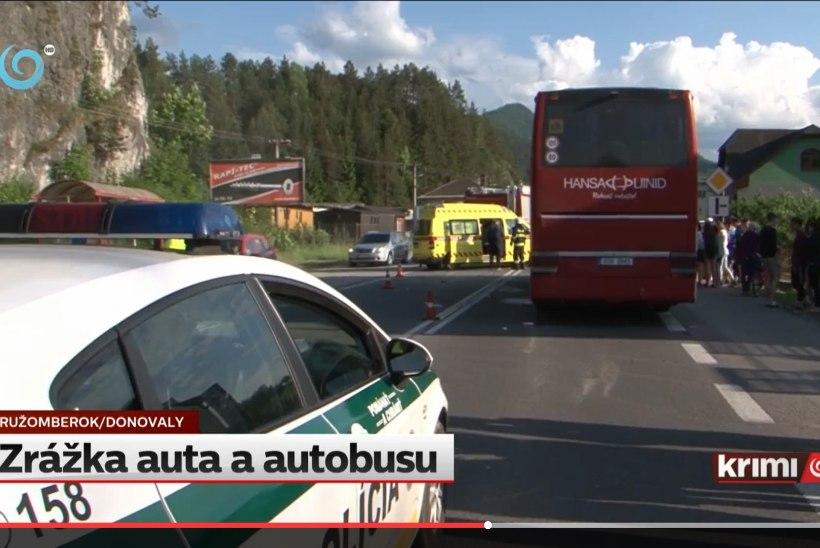 VIDEO   Eesti koolilapsi vedanud buss sattus Slovakkias avariisse