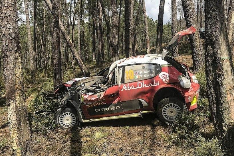 ŠOKK: Ränga õnnetuse teinud Kris Meeke'i hooaeg on läbi