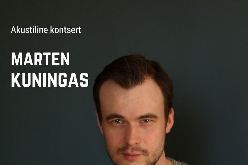 Marten Kuningas annab akustilise kontserdi Eduard Vilde kunagises elutoas