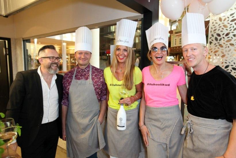 GALERII | Vapiano restorani hoogne sünnipäevapidu kulmineerus staaride pasta valmistamise võistlusega
