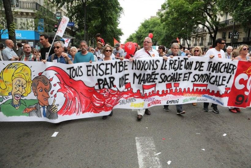 Prantslased marsivad Macroni vastu