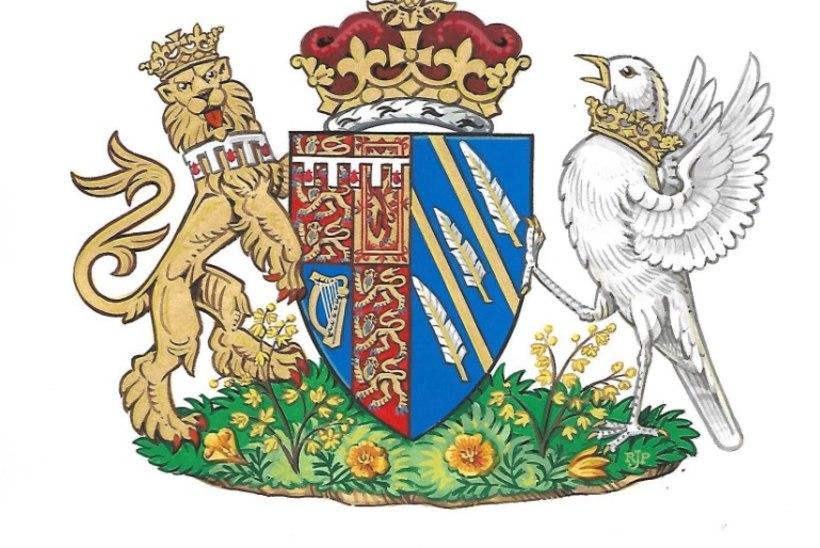 Mida tähendavad sümbolid hertsoginna Meghani vapil?
