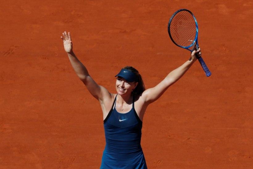 Maria Šarapova naasis kolmeaastase pausi järel Pariisi võidukalt
