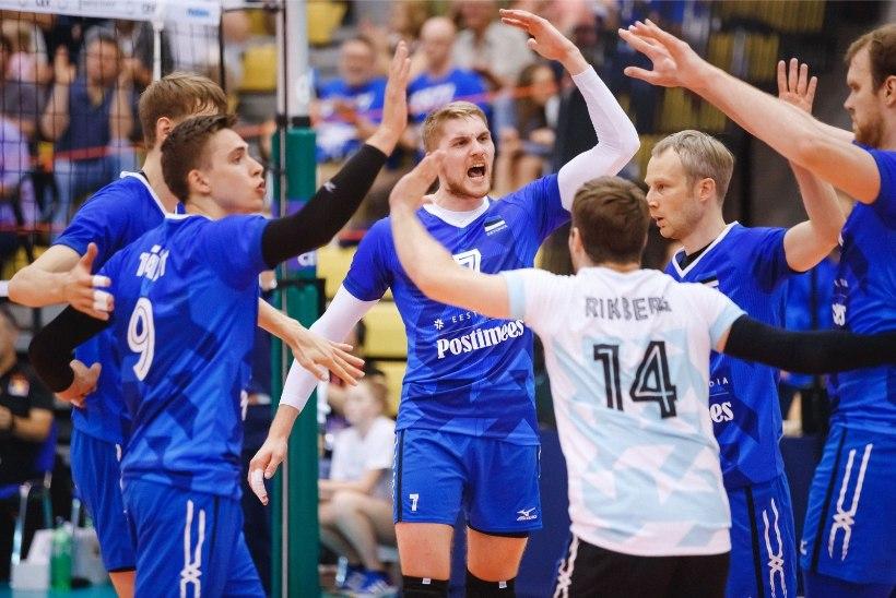 VINGE! Eesti võrkpallikoondis hävitas Cretu juubelimatšis Rootsi