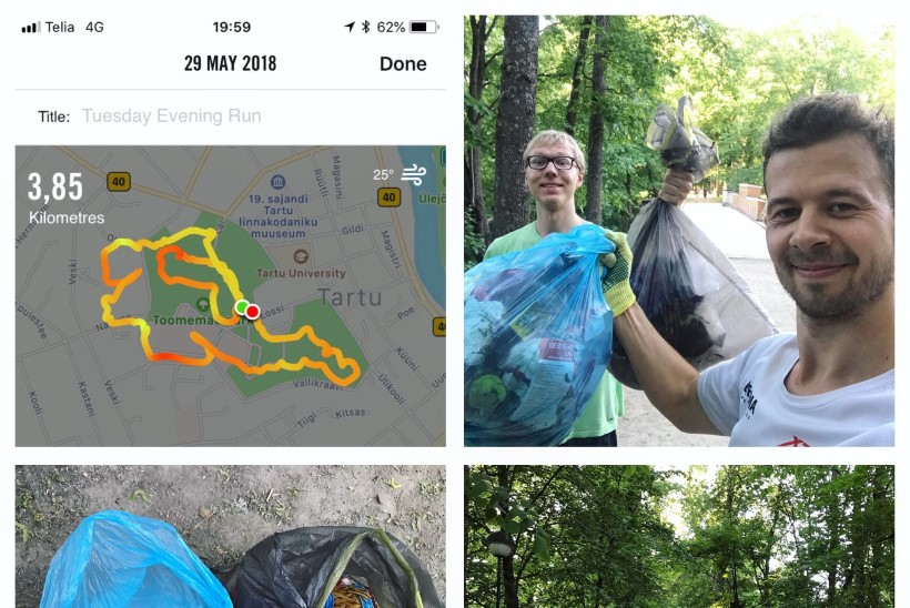 Jalmar Vabarnal uus hobi: jooksmas käies korjan ka tee peale jääva prügi ära