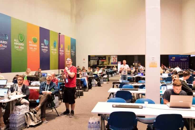 ÕL GALERII | Piilu Eurovisioni pressikeskusesse ja vaata, millistes tingimustes ajakirjanikud töötavad