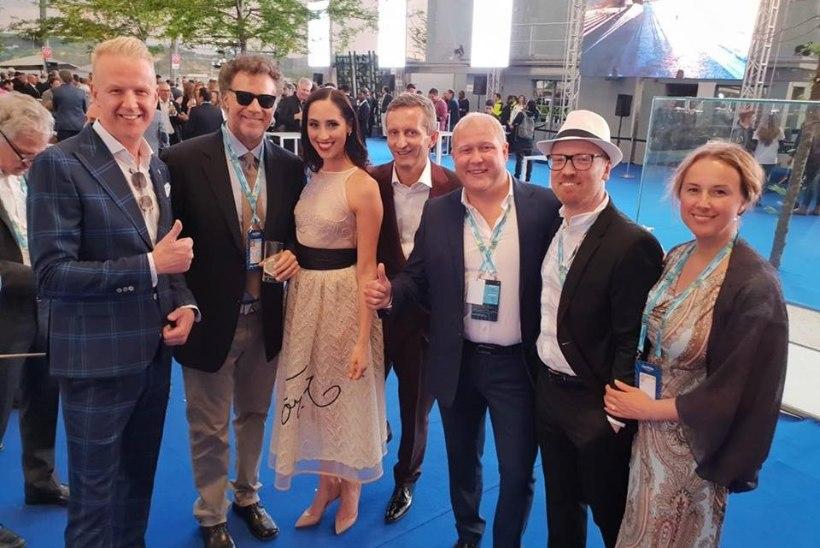 FOTO | Eesti eurodelegatsioon kohtus Lissabonis kuulsa näitleja Will Ferrelliga, kes on suur Eurovisioni fänn