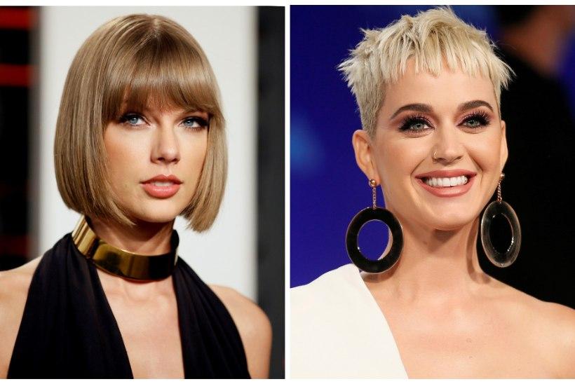 TÜLI LÄBI: Katy Perry saatis Taylor Swiftile lepituseks oliivioksa