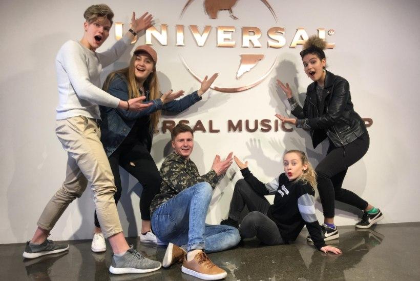 """""""Eesti otsib superstaari"""" finalistid käisid Soomes võidusinglit salvestamas"""