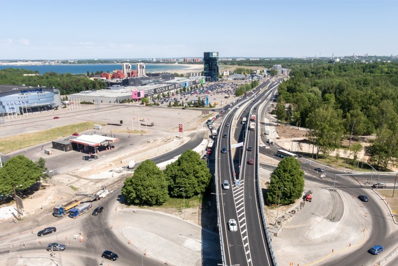 DROONIFOTOD ja VIDEO | Üle 20 miljoni euro maksnud Haaberstiviadukt on liiklusele avatud