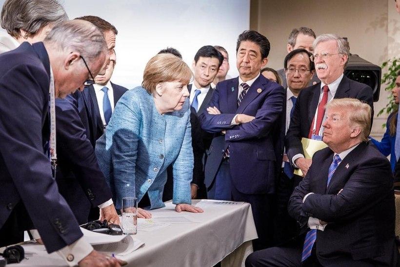 FOTOUUDIS | Merkel ja Trump vahivad üle laua tõtt