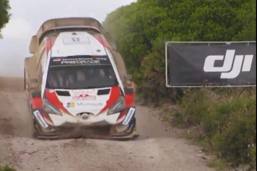 VIDEO   Uued kaadrid näitavad, kuidas Tänaku auto tegelikult purunes