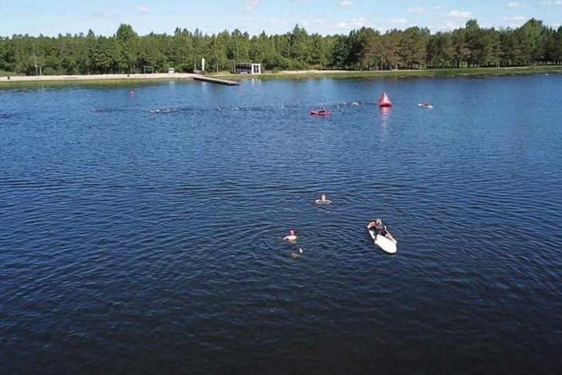 Kaire Vilgats ja Annely Adermann triatlonist: kujutage ette kahte pereema rahulikus konnastiilis Paide tehisjärves ujumas!
