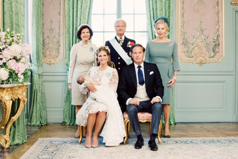 Rootsi kuningakoda avaldas printsess Adrienne'i imearmsad ristimisportreed