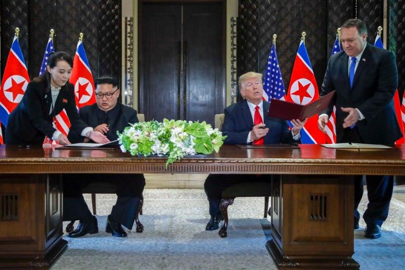 Kimi ja Trumpi vahel sõlmitud lepe sisaldas Põhja-Korea lubadusi ning USA julgeolekugarantiid