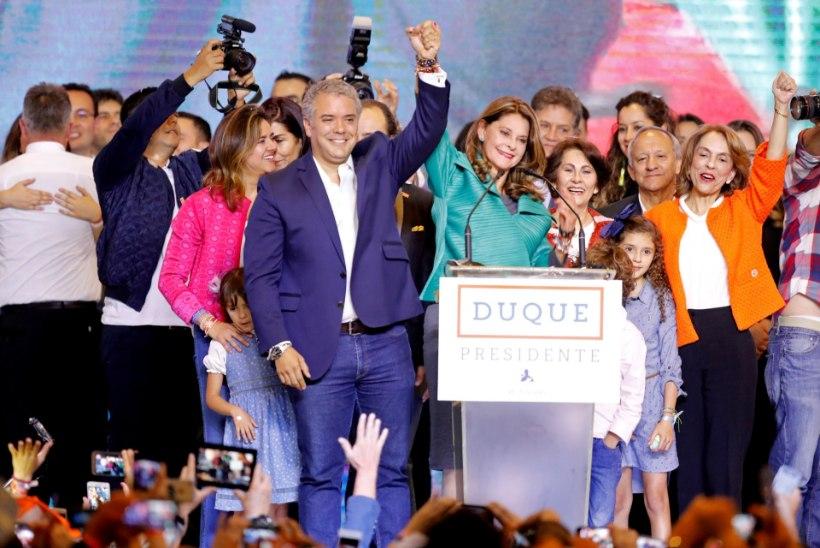 Colombia uueks presidendiks valiti Ivan Duque