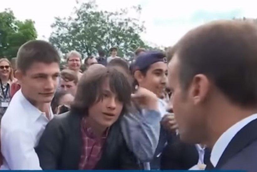 VIDEO   Macron käskis teismelisel end härra presidendiks kutsuda
