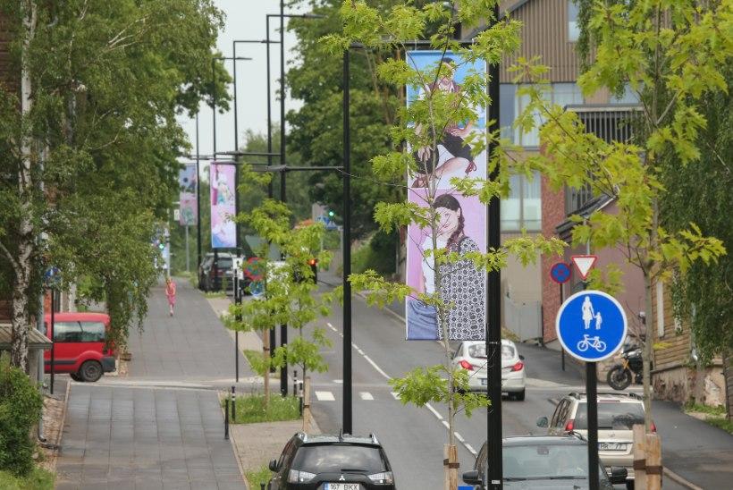 GALERII | Näitus tänaval: ERMi juurde viivat tänavat ehivad moefotod