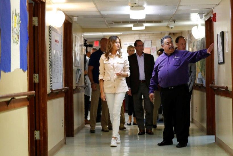 Melania Trump külastas sisserändajatelt ära võetud lapsi, kelle saatus on endiselt ebaselge