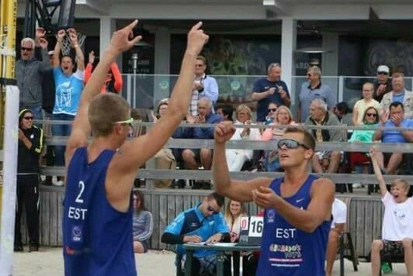 Eesti rannavollepaar teenis MK-etapil teise koha