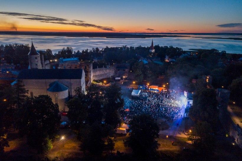 GALERII | Tümpsubänd Scooter andis Haapsalu Jaanitulel vägeva kontserdi