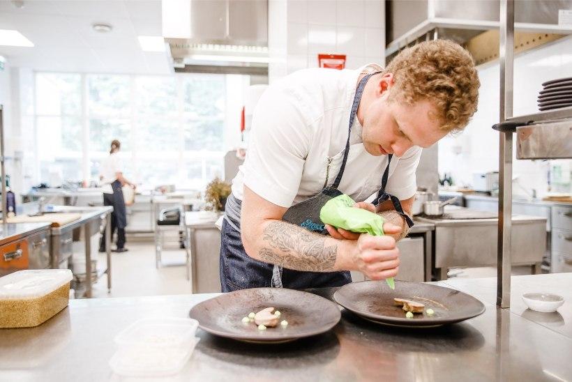 ÕL VIDEO | Pärnumaal pakutaksekärbseseenesuppi ja karvakala, fine dining`u fännid söövad restorani köögis või koka kodus