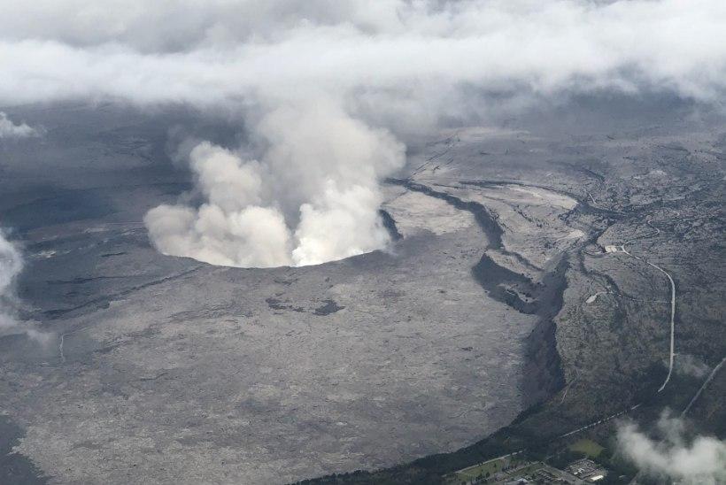 Droonivideo paljastas Kilauea suurimas kraatris muret tekitavad praod