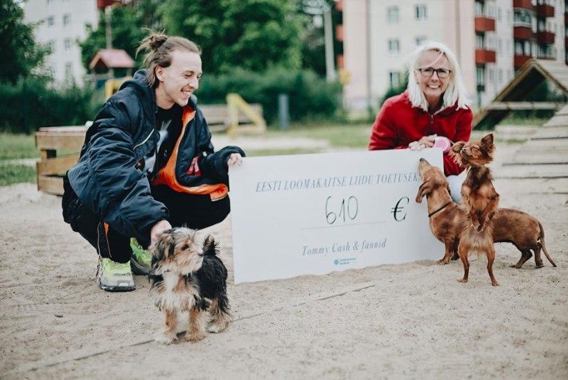 Tommy Cash kogus fännide abiga heategevuslikul müügil Eesti loomakaitse liidu toetuseks 610 eurot
