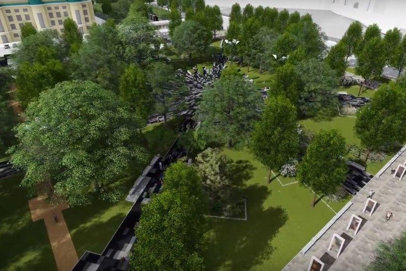 Vaata, milline hakkab välja nägema suve lõpus avatav Tammsaare park